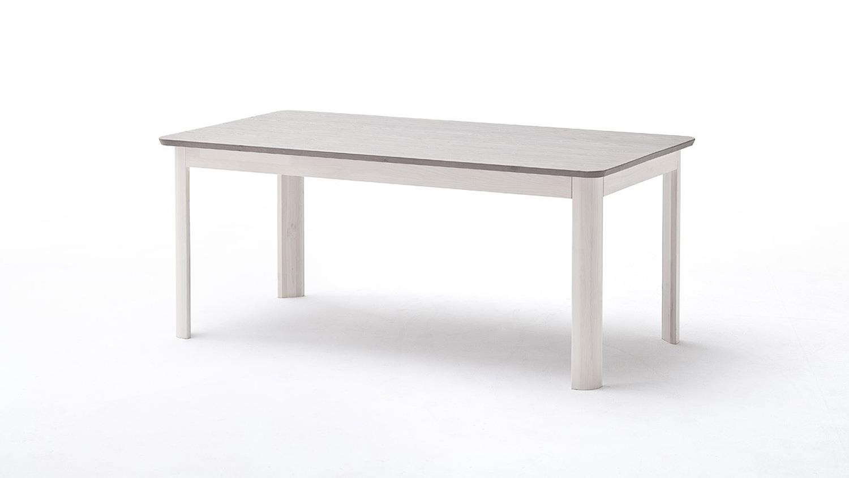 Esstisch massiv weiß  MALMÖ Esszimmer Tisch Kiefer massiv weiß lava 140cm