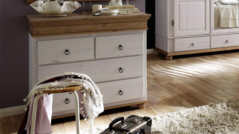 kommode oslo herrenkommdoe kiefer massiv wei antik. Black Bedroom Furniture Sets. Home Design Ideas