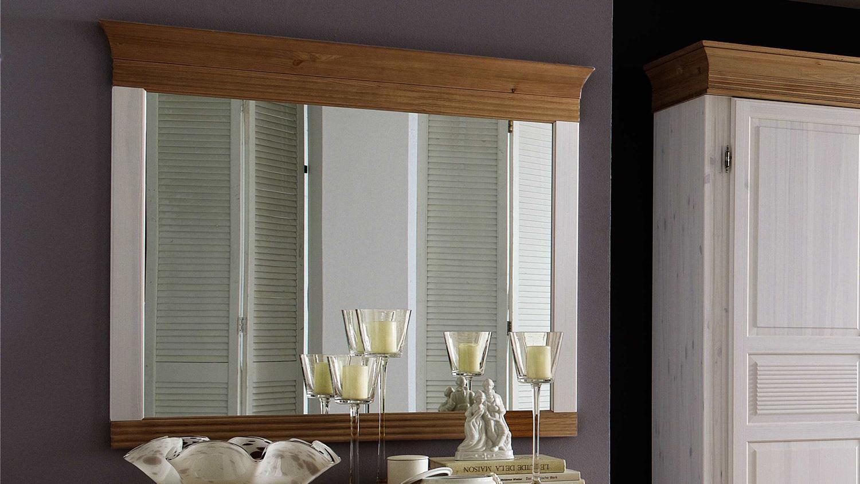 spiegel oslo kiefer massiv wei und antik 101 3x88 cm. Black Bedroom Furniture Sets. Home Design Ideas