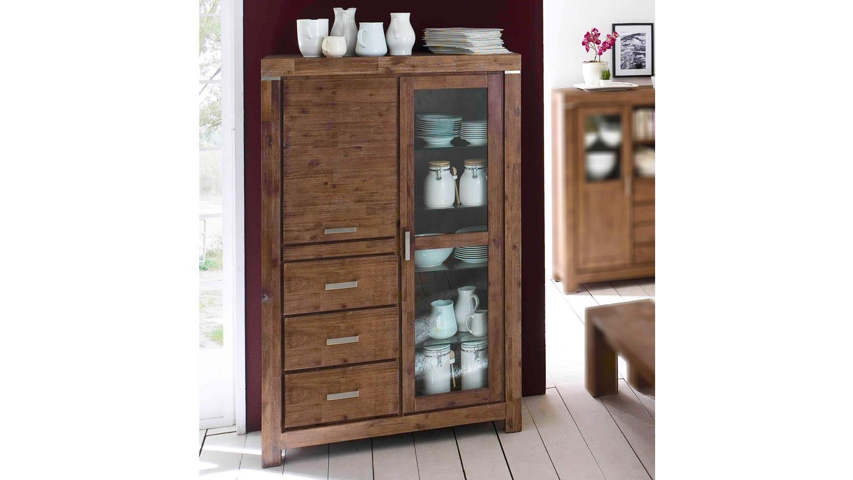 hochschrank victoria schrank in akazie massiv braun. Black Bedroom Furniture Sets. Home Design Ideas