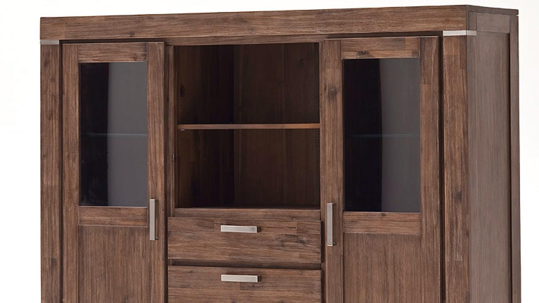 highboard victoria schrank in akazie massiv braun. Black Bedroom Furniture Sets. Home Design Ideas