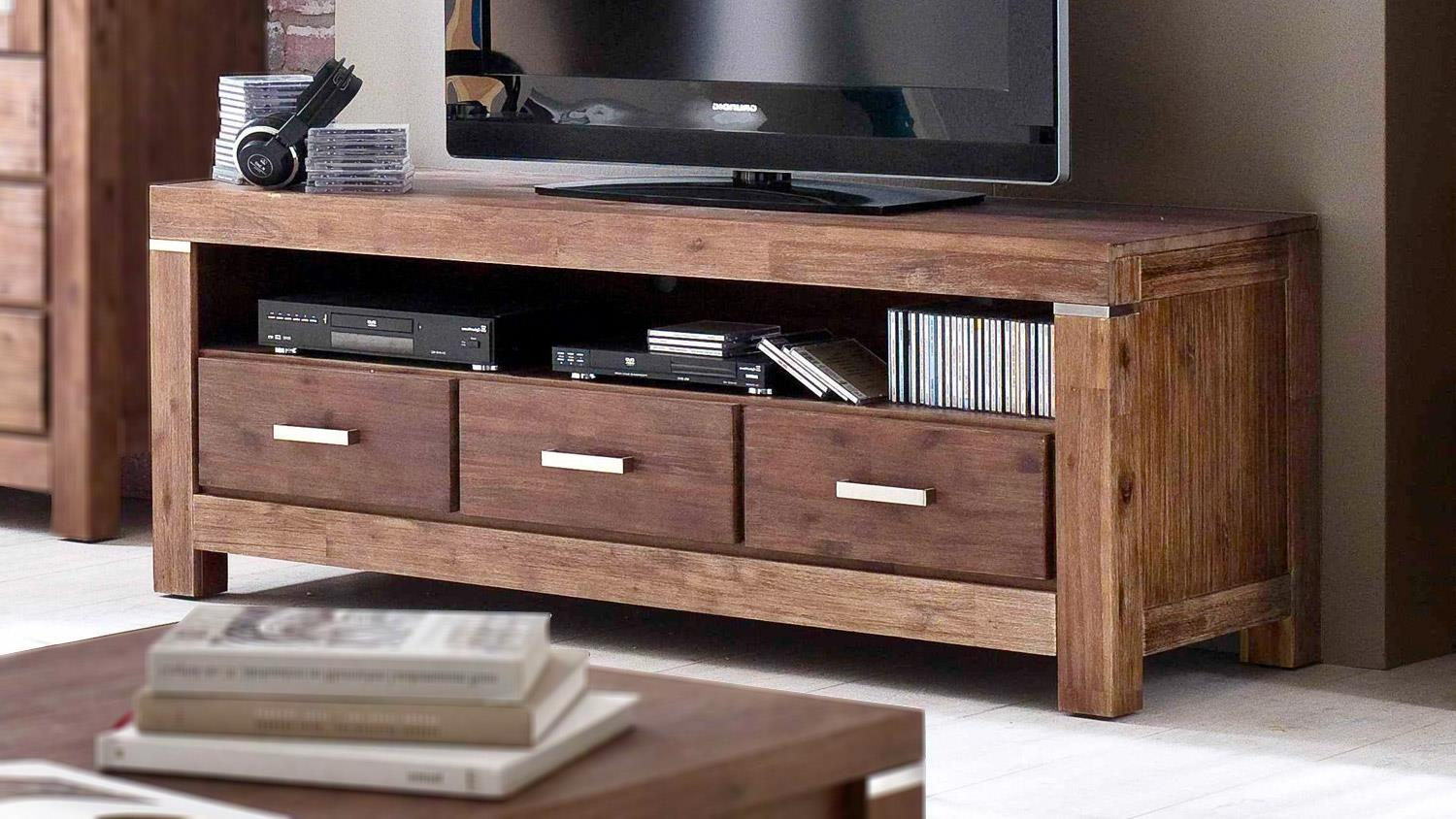 tv board victoria lowboard in akazie massiv braun. Black Bedroom Furniture Sets. Home Design Ideas