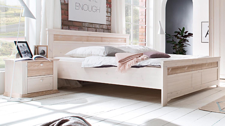bettanlage g teborg doppelbett mit nakos kiefer massiv. Black Bedroom Furniture Sets. Home Design Ideas