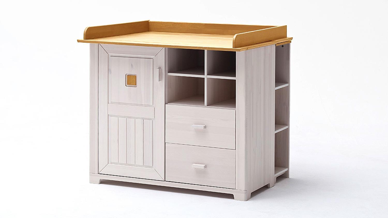 babyzimmer malm komplettset 7 teilig kiefer massiv wei antik. Black Bedroom Furniture Sets. Home Design Ideas