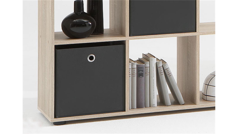 raumteiler mega 1 regal b cherregal in sonoma eiche s gerau. Black Bedroom Furniture Sets. Home Design Ideas