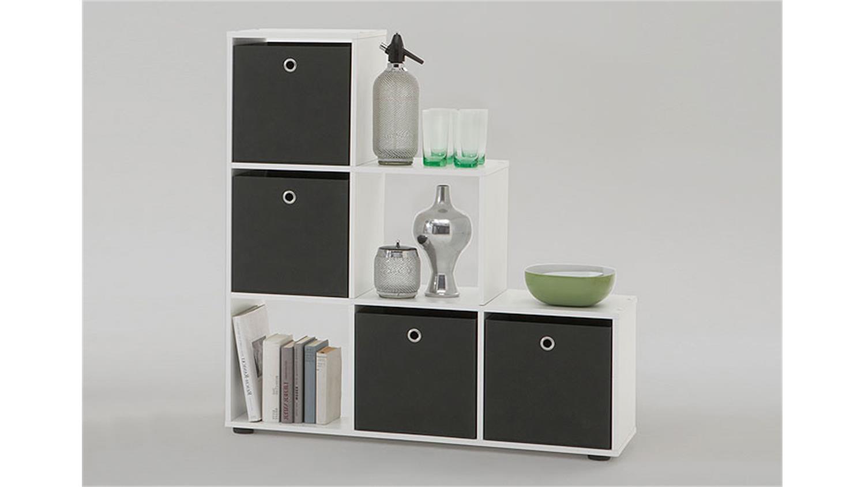 raumteiler mega regal b cherregal wei dekor mit 6 f chern. Black Bedroom Furniture Sets. Home Design Ideas