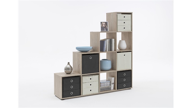 raumteiler mega 2 b cherregal regal in sonoma eiche s gerau. Black Bedroom Furniture Sets. Home Design Ideas
