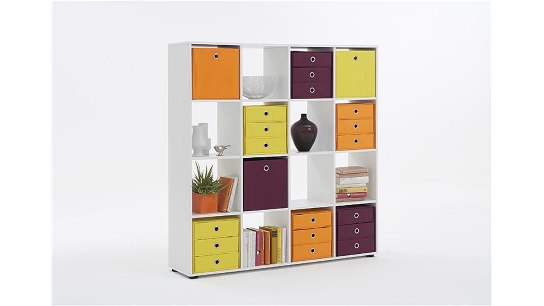 raumteiler mega 6 b cherregal regal in wei dekor 16 f cher. Black Bedroom Furniture Sets. Home Design Ideas