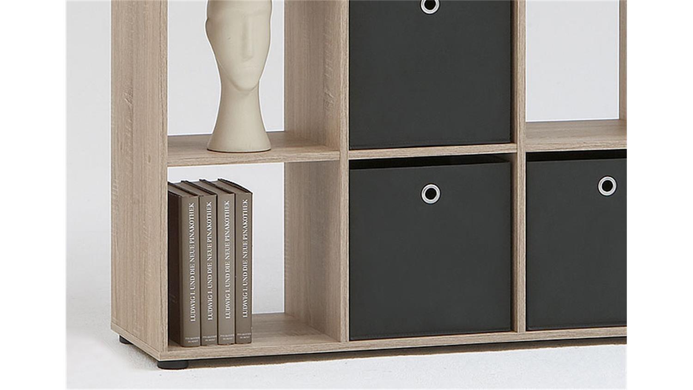 raumteiler mega 6 b cherregal regal in sonoma eiche s gerau. Black Bedroom Furniture Sets. Home Design Ideas