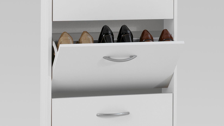 schuhkipper step 5 schuhschrank wei mit 5 klappen f r 10 paar schuhe. Black Bedroom Furniture Sets. Home Design Ideas