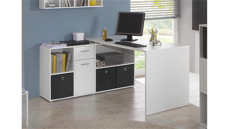 schreibtisch lex winkelkombination tisch b rotisch in wei. Black Bedroom Furniture Sets. Home Design Ideas