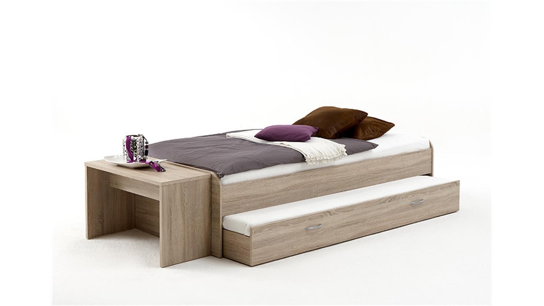 bett pedro 4 90x200 sonoma eiche ausziehbare g steliege. Black Bedroom Furniture Sets. Home Design Ideas