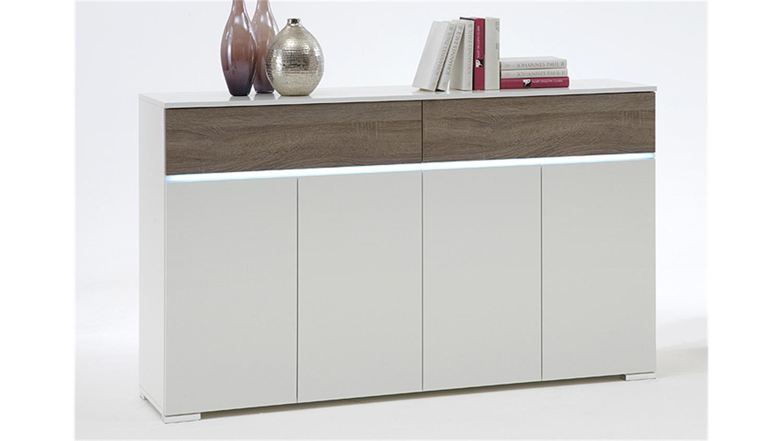 sideboard light wei sonoma eiche s gerau dunkel inkl led. Black Bedroom Furniture Sets. Home Design Ideas