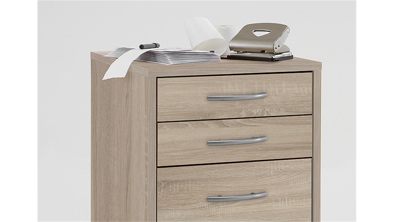 rollcontainer freddy b rocontainer sonoma eiche s gerau. Black Bedroom Furniture Sets. Home Design Ideas