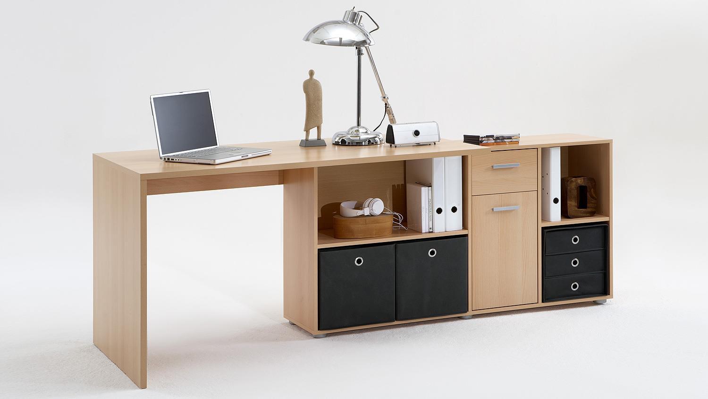 Schreibtisch lexx winkelkombination tisch b rotisch buche for Schreibtisch tisch