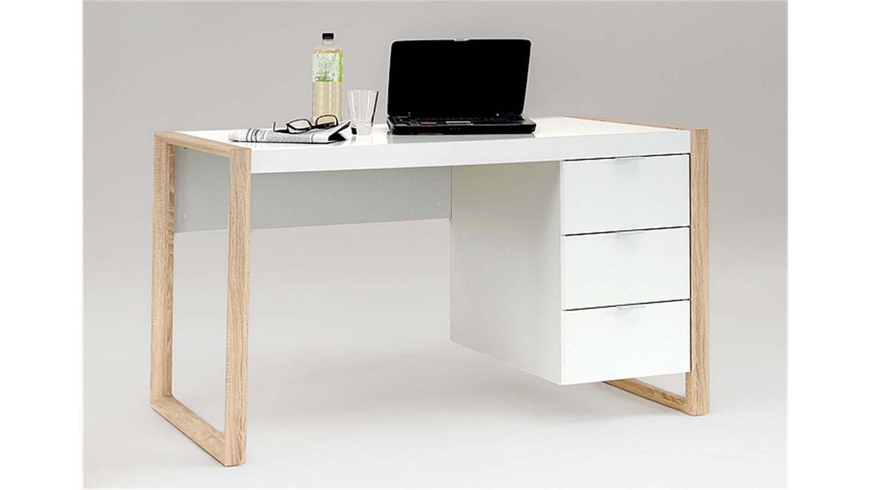 schreibtisch frame pc tisch b rotisch computertisch in wei. Black Bedroom Furniture Sets. Home Design Ideas