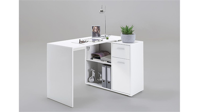 schreibtischkombination albrecht inkl kommode in wei. Black Bedroom Furniture Sets. Home Design Ideas