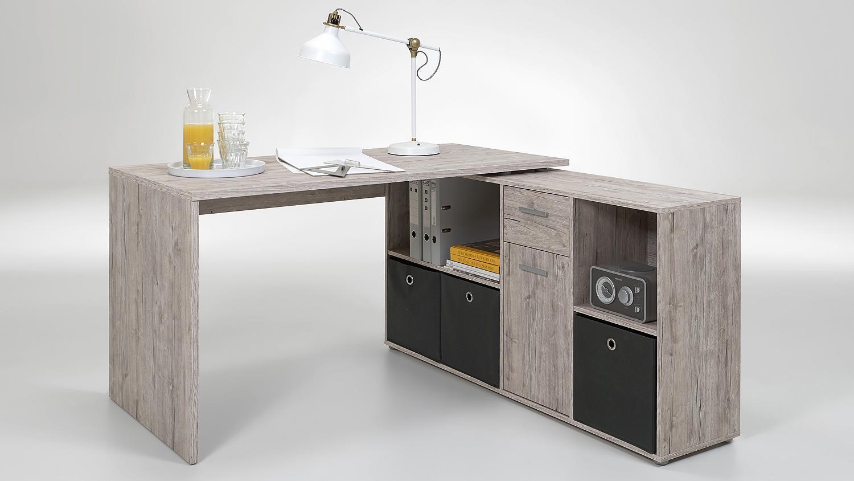 schreibtisch lexx eckschreibtisch b rotisch sandeiche. Black Bedroom Furniture Sets. Home Design Ideas