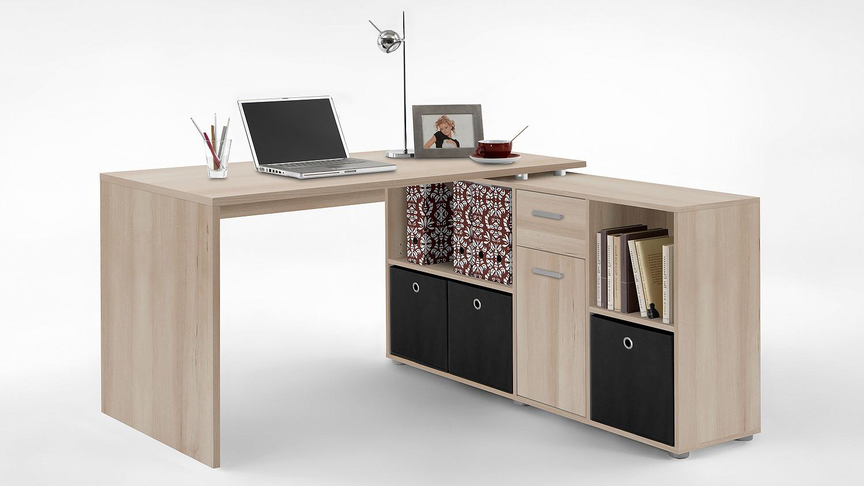 Schreibtisch lex winkelkombination b rotisch edelbuche for Schreibtisch edelbuche