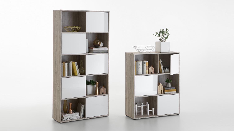 regal futura 1 up aktenregal b cherregal sandeiche wei und hochglanz. Black Bedroom Furniture Sets. Home Design Ideas