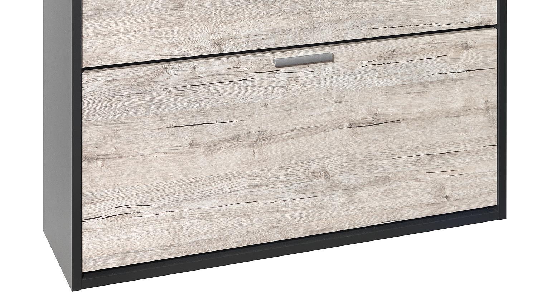 schuhschrank telesto anthrazit sandeiche f r 12 paar. Black Bedroom Furniture Sets. Home Design Ideas