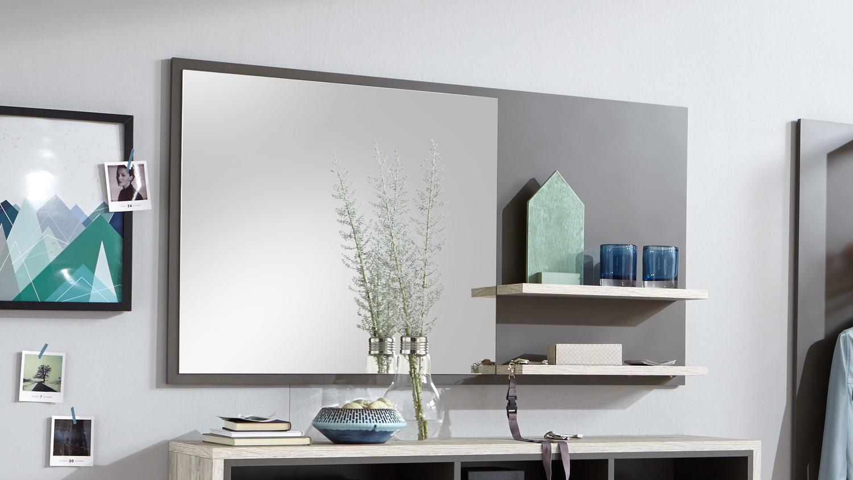 garderobe oxford flurm bel in lava und sandeiche mit. Black Bedroom Furniture Sets. Home Design Ideas