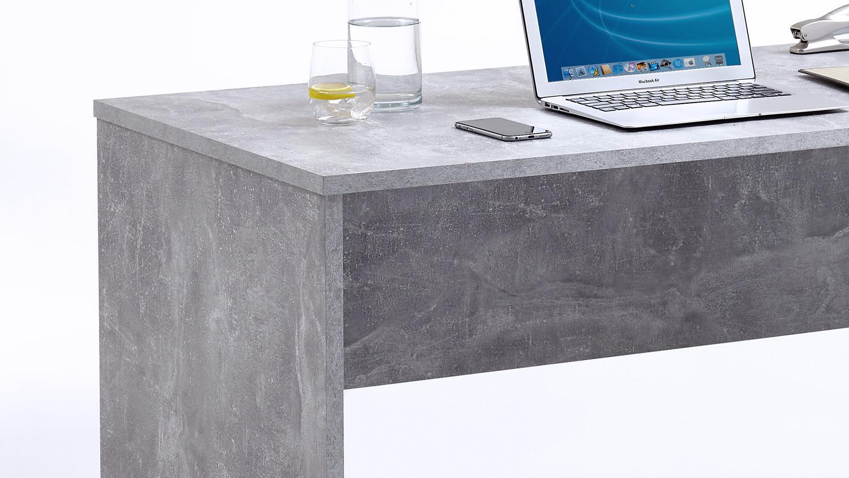 schreibtisch brick beton optik und wei hochglanz inkl rollcontainer. Black Bedroom Furniture Sets. Home Design Ideas