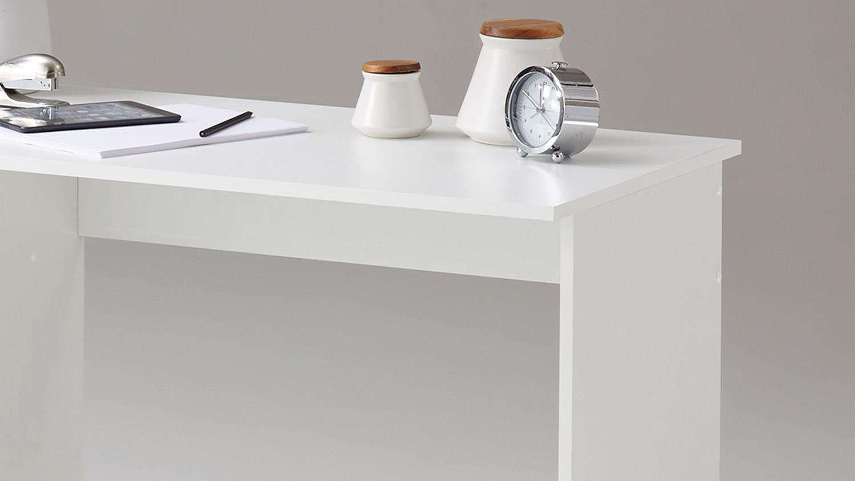 Schreibtisch JACKSON Computertisch Bürotisch in weiß schwarz 123x50 cm