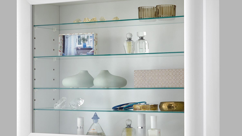 BORA 10 Vitrine Hängeschrank Glasvitrine in weiß 62 cm