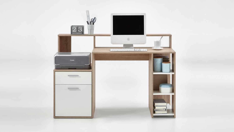 computertisch bolton schreibtisch b rotisch pc tisch in. Black Bedroom Furniture Sets. Home Design Ideas