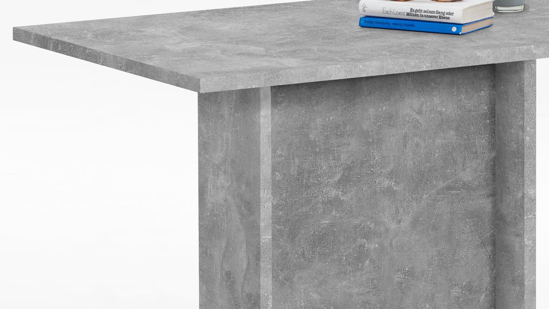 Esstisch bandol 3 k chentisch esszimmertisch tisch in beton 110x70 cm - Esszimmertisch betonoptik ...