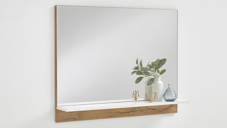 spiegel bristol garderobenspiegel mit ablage alteiche wei edelglanz. Black Bedroom Furniture Sets. Home Design Ideas