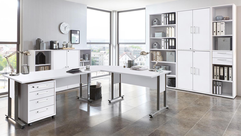 Arbeitszimmer Calvia Buro Komplettset In Weiss