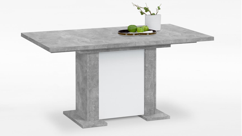 ausziehtisch berck esstisch in betonoptik und weiß