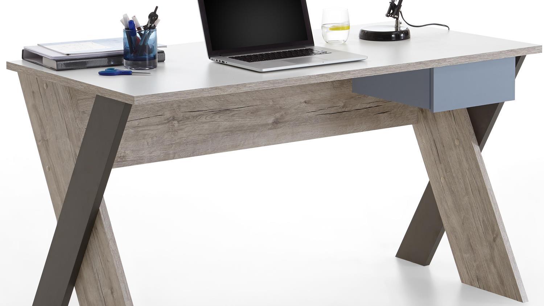 Schreibtisch nona sandeiche wei mehrfarbig jugendzimmer for Schreibtisch jugendzimmer
