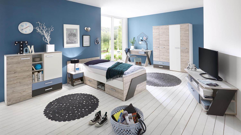 Etagenbett Bussy Aufbauanleitung : Jugendzimmer nona kinderzimmer 6 teilig in sandeiche weiß mehrfarbig