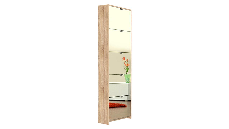 schuhkipper koblenz sonoma eiche mit spiegel. Black Bedroom Furniture Sets. Home Design Ideas