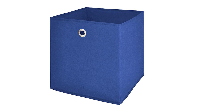 faltbox flori 1 korb regal aufbewahrungsbox in blau 4er set. Black Bedroom Furniture Sets. Home Design Ideas