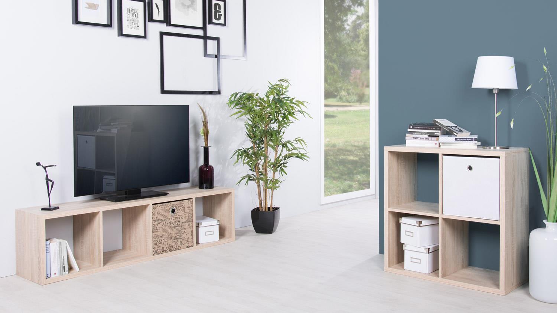 regal max raumteiler 4er s ule in sonoma eiche dekor. Black Bedroom Furniture Sets. Home Design Ideas