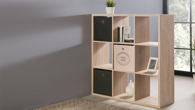 regal max mit 9 f chern sonoma eiche. Black Bedroom Furniture Sets. Home Design Ideas