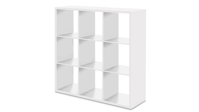 regal max mit 9 f chern wei. Black Bedroom Furniture Sets. Home Design Ideas