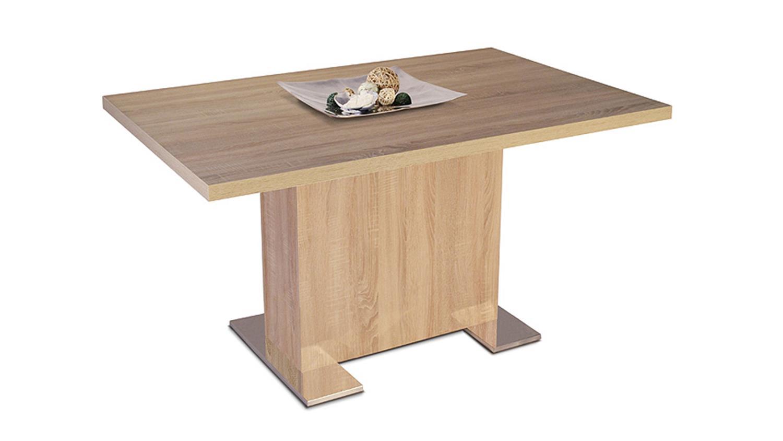 esstisch bonn tisch in sonoma eiche dekor 140x90 cm. Black Bedroom Furniture Sets. Home Design Ideas
