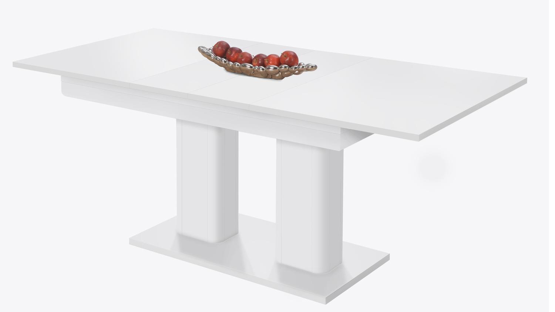 esstisch heidelberg wei ausziehbar 140 220x90 cm. Black Bedroom Furniture Sets. Home Design Ideas