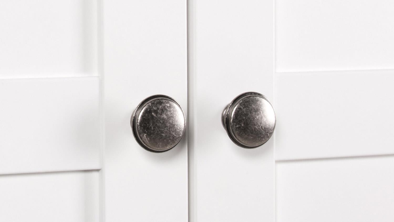Kleiderschrank weiß landhausstil 2 türig  LANDWOOD Schrank in weiß mit 2 Türen Landhausstil