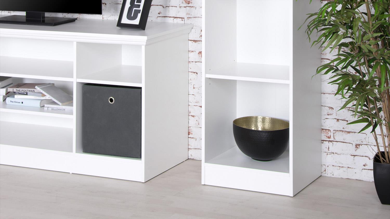 regal landwood b cherregal in wei in landhausstil 50 cm. Black Bedroom Furniture Sets. Home Design Ideas