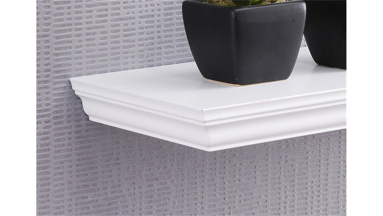 wandboard landwood wandregal in wei mit 1 ablage 60 cm. Black Bedroom Furniture Sets. Home Design Ideas