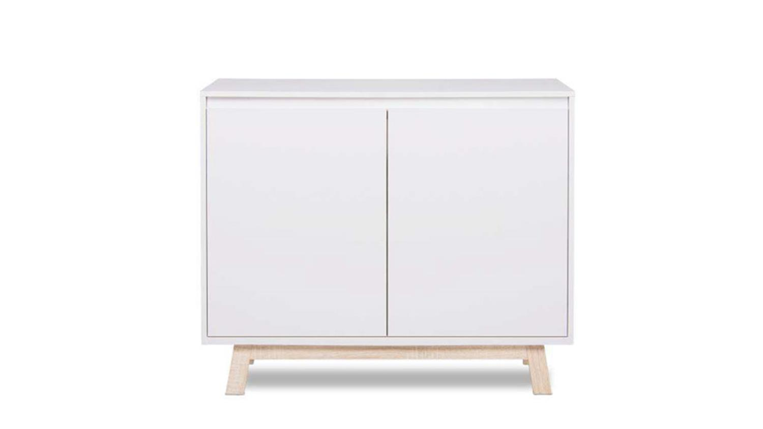 Kommode apart 1 sideboard anrichte in wei und sonoma for Kommode 140 x 100