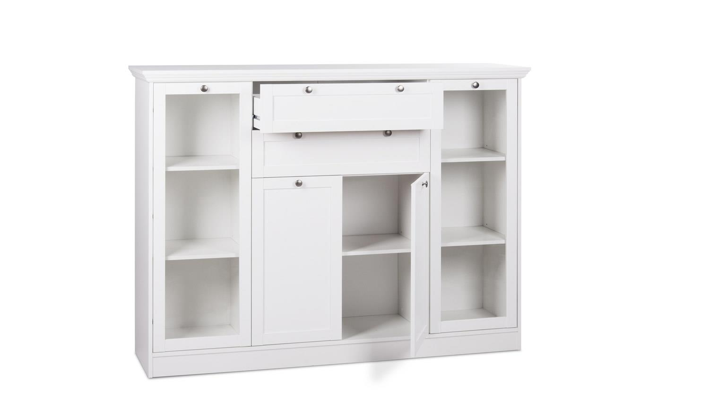 highboard landwood schrank anrichte in wei mit 4 t ren landhausstil. Black Bedroom Furniture Sets. Home Design Ideas