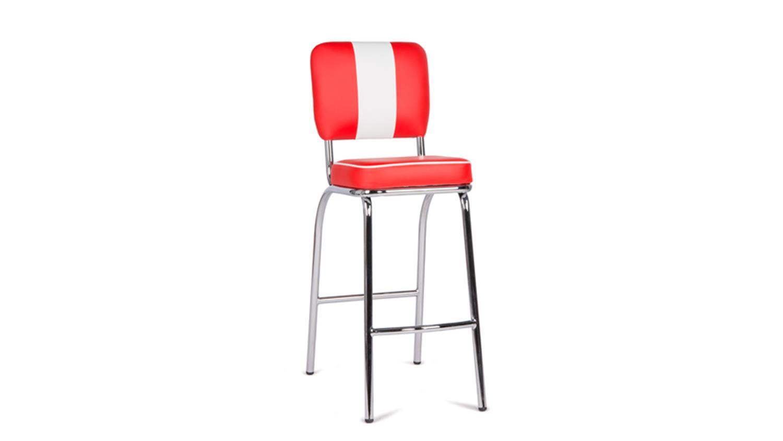 barhocker elvis rot chrom 50er jahre american diner. Black Bedroom Furniture Sets. Home Design Ideas