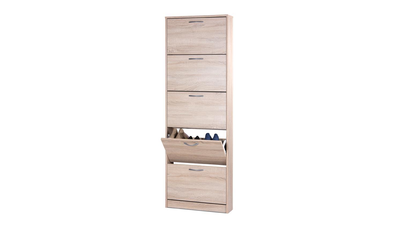 schuhschrank wiesbaden 3 schuhkipper eiche sonoma 5 klappen. Black Bedroom Furniture Sets. Home Design Ideas